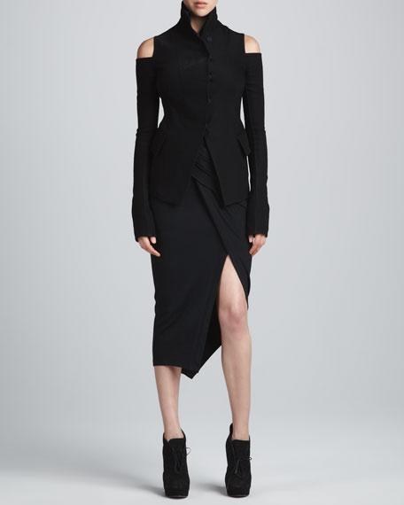Draped Sarong Skirt, Black