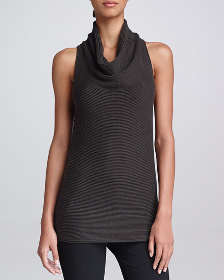Sleeveless Cowl-Neck Top, Flint