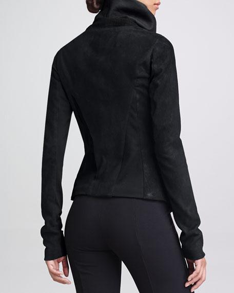 Rubberized Leather Jacket