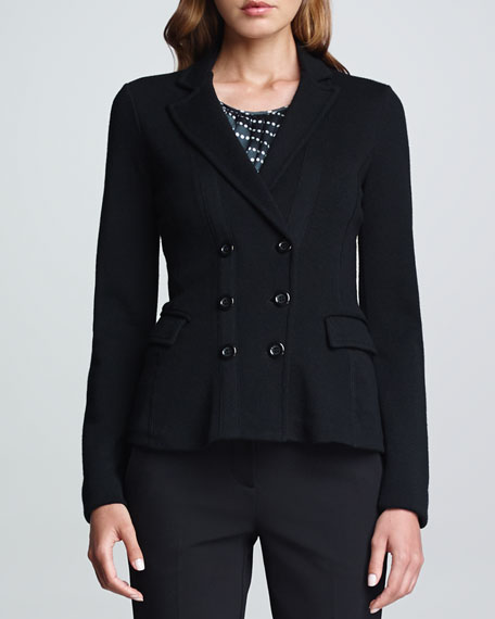 Double-Breasted Jacket, Black