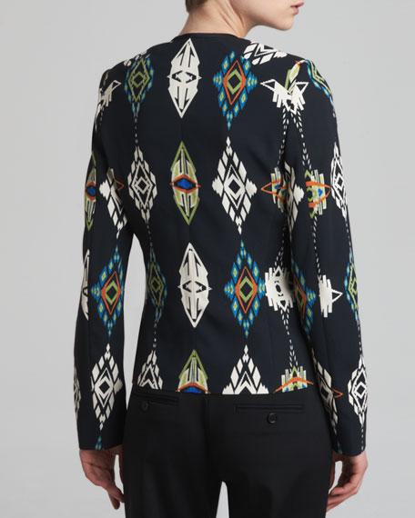 Ganado-Print Moto Jacket