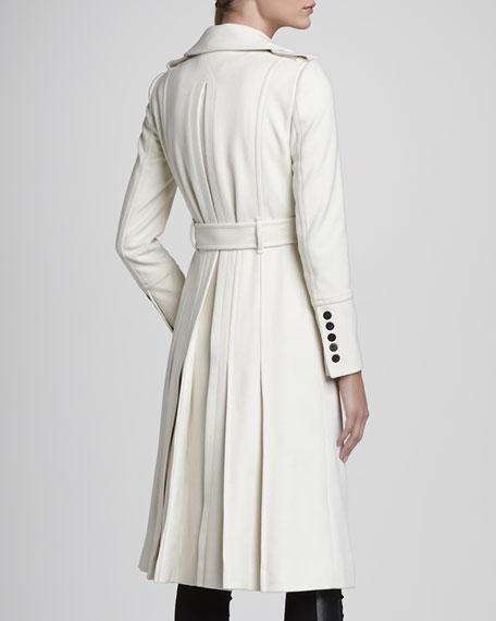 Oversize Military Coat, Winter White