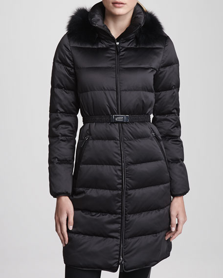Fox Fur Hood Puffer Jacket