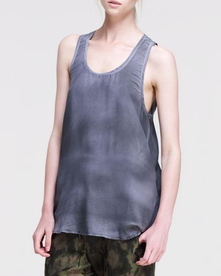 Tie-Dye Silk Tank Top