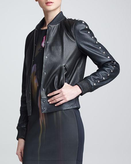 Teddy Studded Leather Jacket