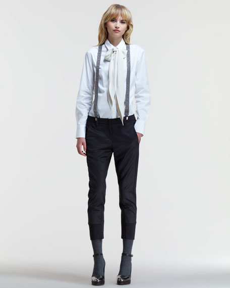 Two-Tone Cigarette Pants