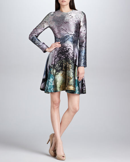 Babelona Jacquard Long-Sleeve Dress