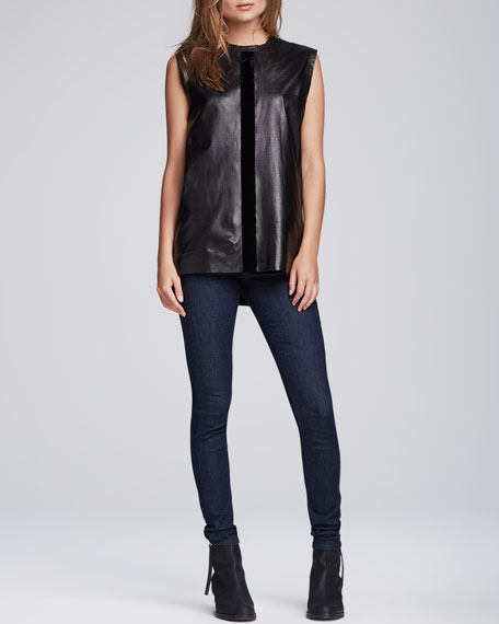 Cropped Mid-Rise Skinny Jeans, Soft Rinse