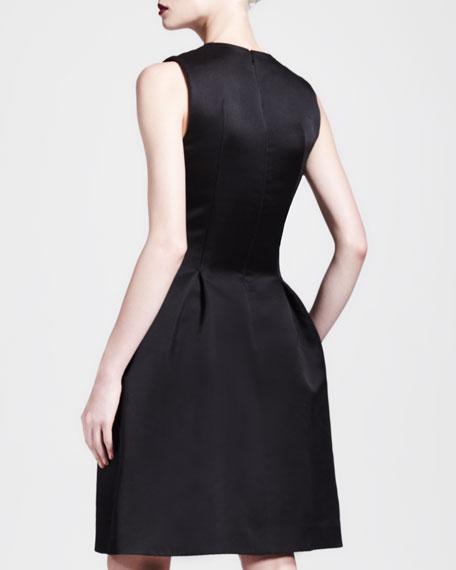 Deep-V Embellished-Skirt Full Dress