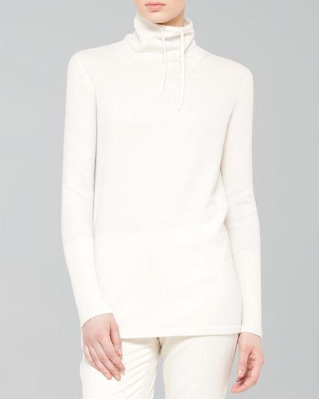 Cashmere Knit Tunic, Ecru