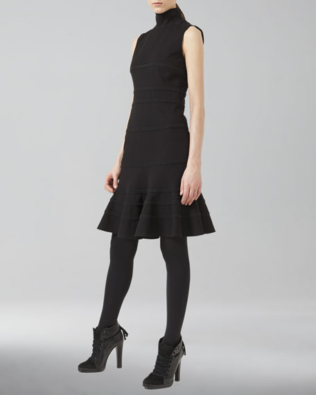 Stretch Jersey Dress, Black