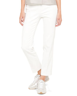 Franca Side-Zip Ankle Pants