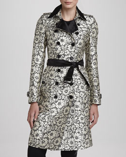 Burberry London Lace-Jacquard Trenchcoat