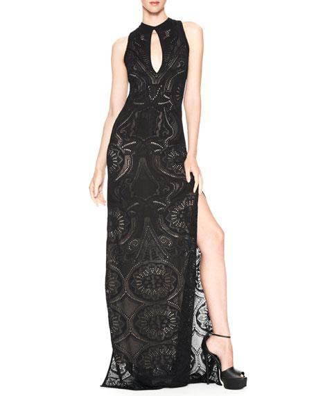 Side-Slit Keyhole Gown