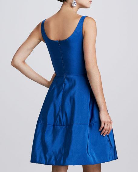 Floral-Embellished Dress, Indigo