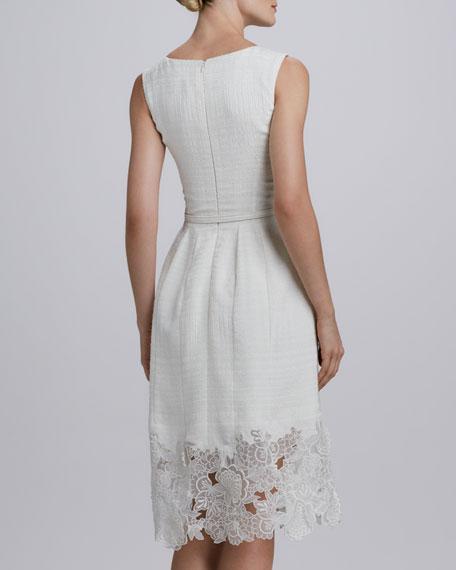 Belted Eyelet-Hem Dress