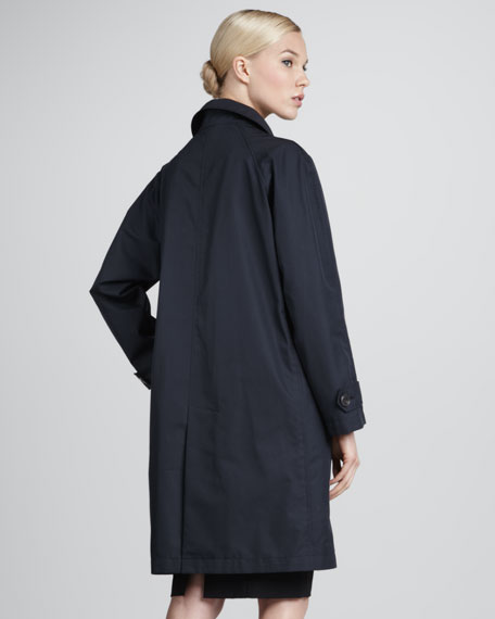 Storm System Trench Coat, Blue