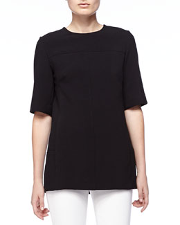 Short-Sleeve Tunic, Black