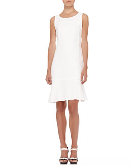 Armani Collezioni Sleeveless Linen Flare-Hem Dress