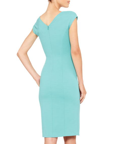 Folded-Front Jersey Dress