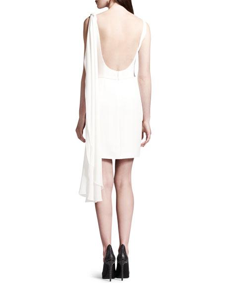 Sleeveless Open-Back Drape Dress