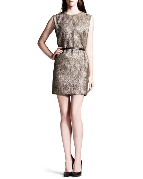 Belted Boucle Minidress