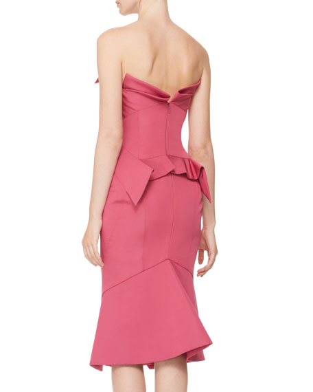Strapless Origami-Fold Dress