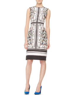Erdem Tali Fitted Printed Dress