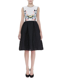 Erdem Faris Full Floral-Top Dress