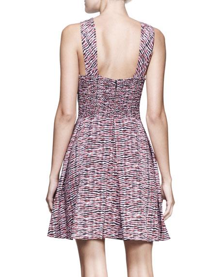 Full Printed Cross-Front Dress