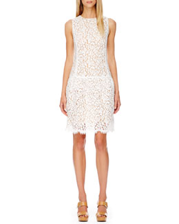 Michael Kors Drop-Waist Lace Dress