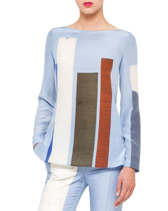 Satellite Tower Crepe Tunic