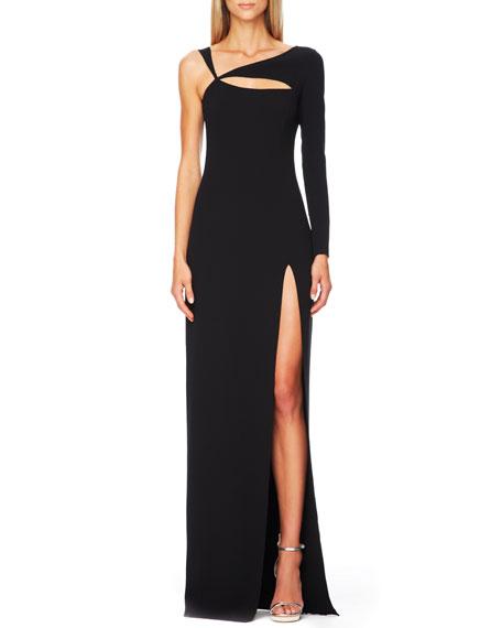 Cutout Single-Sleeve Gown