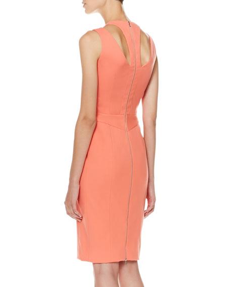 Full-Zip Cutout Dress