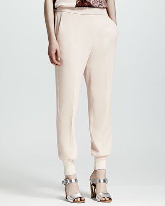 Cuffed Harem Pants, Rose