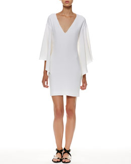 Ralph Lauren Black Label Lilian Flutter-Sleeve Dress