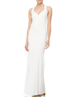 Donna Karan Sleeveless Crisscross-Back Gown