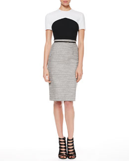 Jason Wu Crepe/Tweed T-Shirt Dress