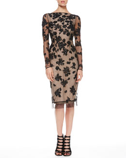 Jason Wu V-Back Sequined Tulle Dress