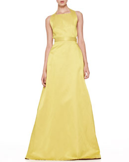 Jason Wu Duchesse Twist-Back Gown