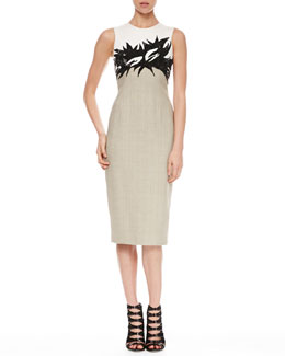 Jason Wu Sequined Combo Botanical Sheath