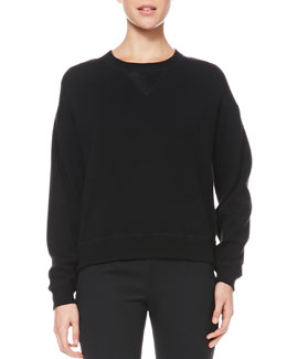 Jason Wu Satin-Back Wool Sweatshirt