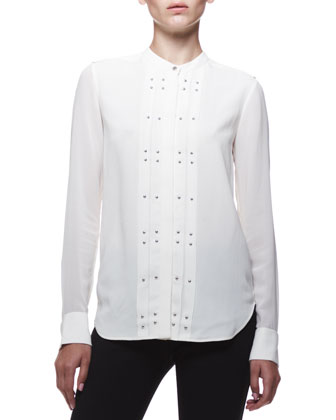 Belstaff Darcy Pleated Studded Blouse