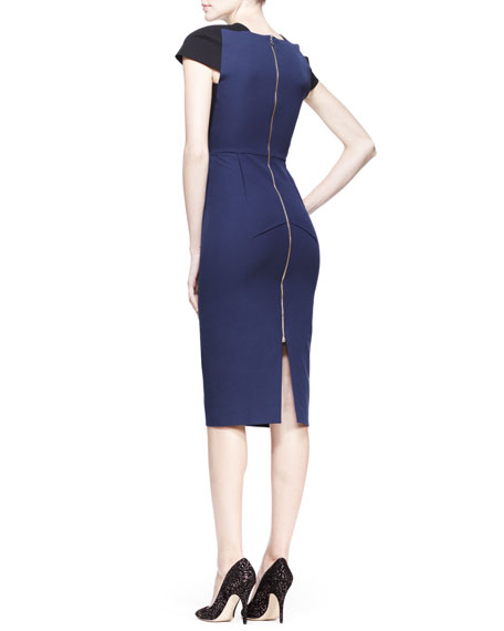 Delphinus Two-Tone Sheath Dress