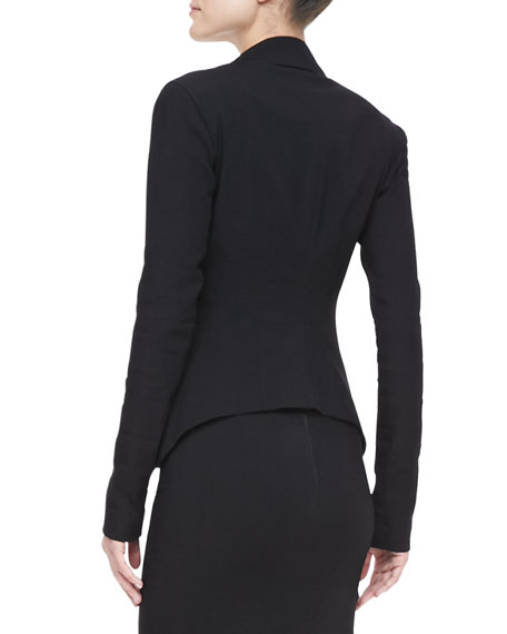 Stretch Modern-Peplum Jacket