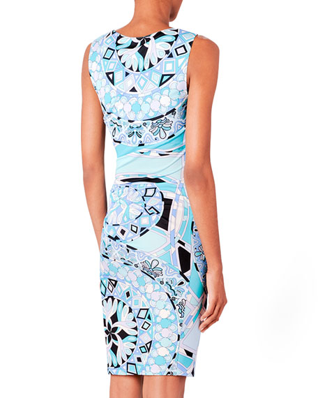 Printed Fitted Jersey Dress