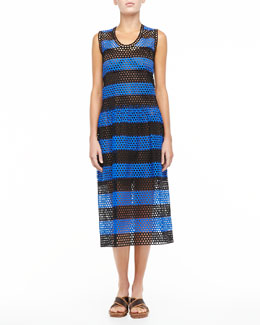 Marc Jacobs Circle-Cutout Striped Dress