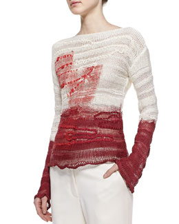 Bottega Veneta Interwoven Silk Pullover
