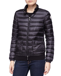 Moncler Zip Puffer Jacket, Black