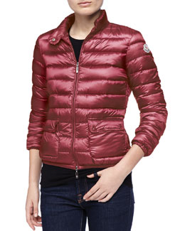 Moncler Zip-Up Puffer Jacket, Fuchsia